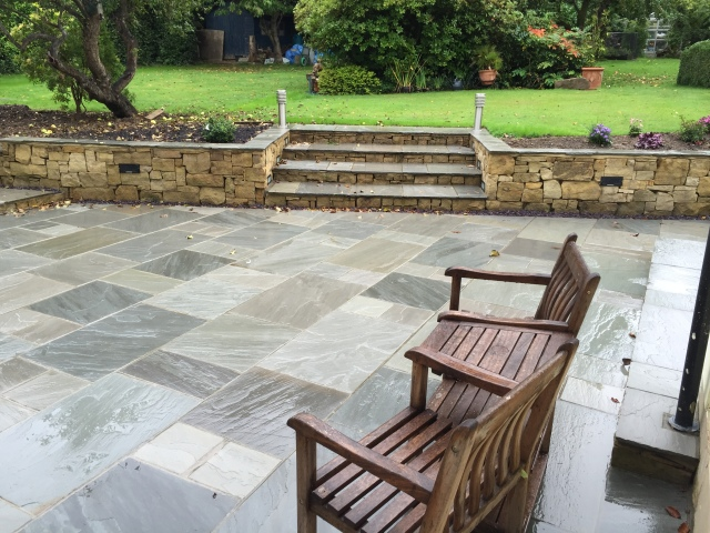 Kandla grey Indian sandstone Uckfield East Sussex